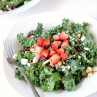 Kale Salad with Strawberries and Almonds