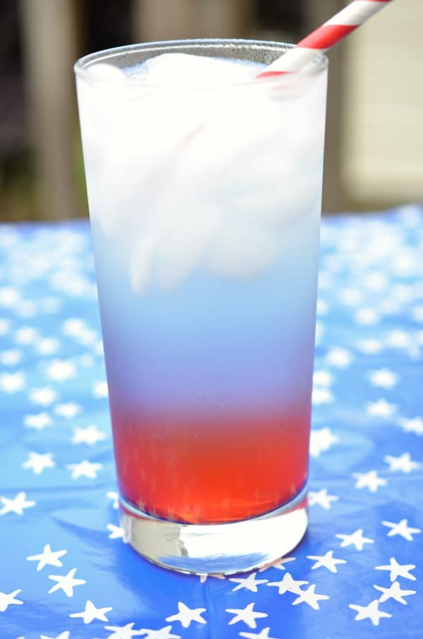 Red, White, and Blue Layered Drink