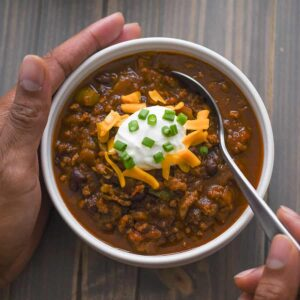 This turkey chili packs a lot of flavor in each bite. You won't' even believe that it is made in the pressure cooker! You have to check it out! SO SO DELICIOUS!
