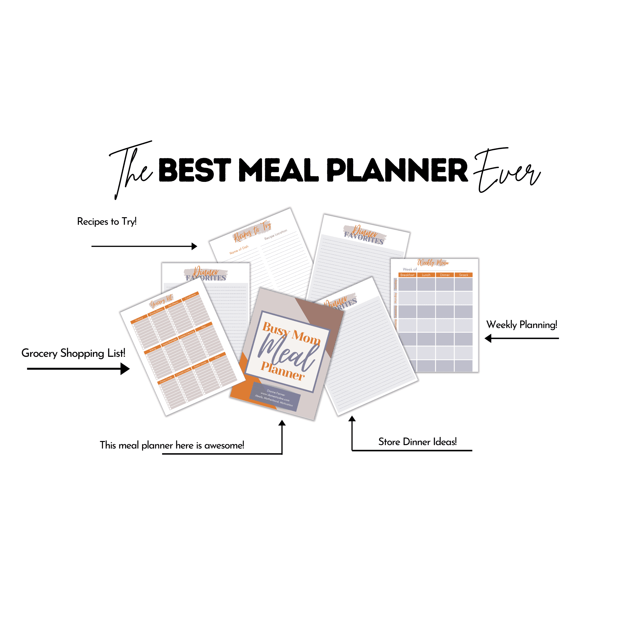 Busy Mom Meal Planner
