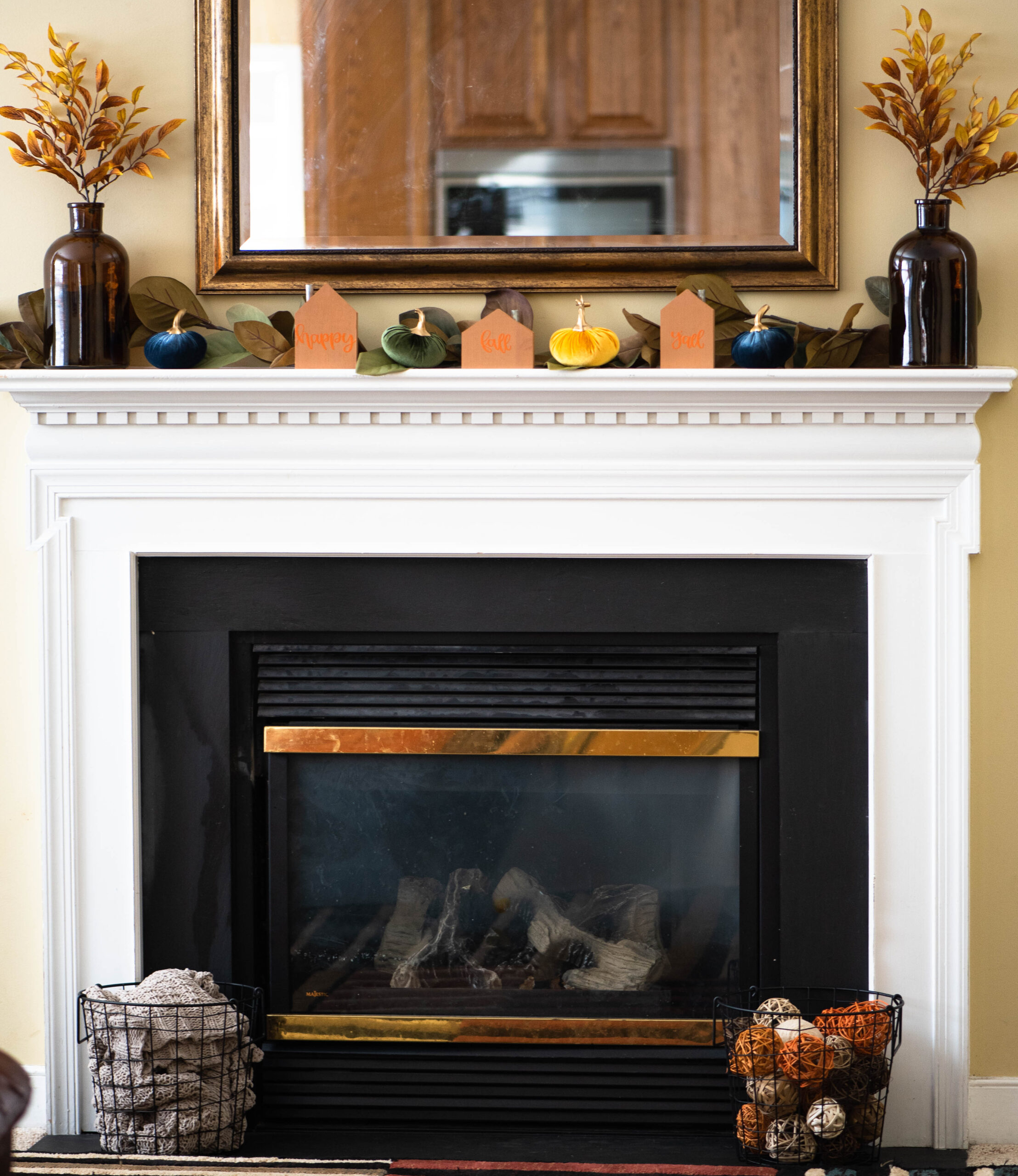 mantel with inexpensive all decor